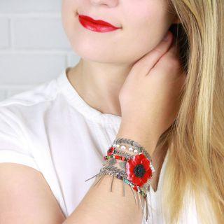 Bracelet Liberte Argent Multi