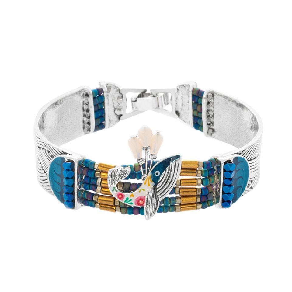 Bracelet Longue-vue Argente Bleu Taratata Bijoux Fantaisie en ligne 1