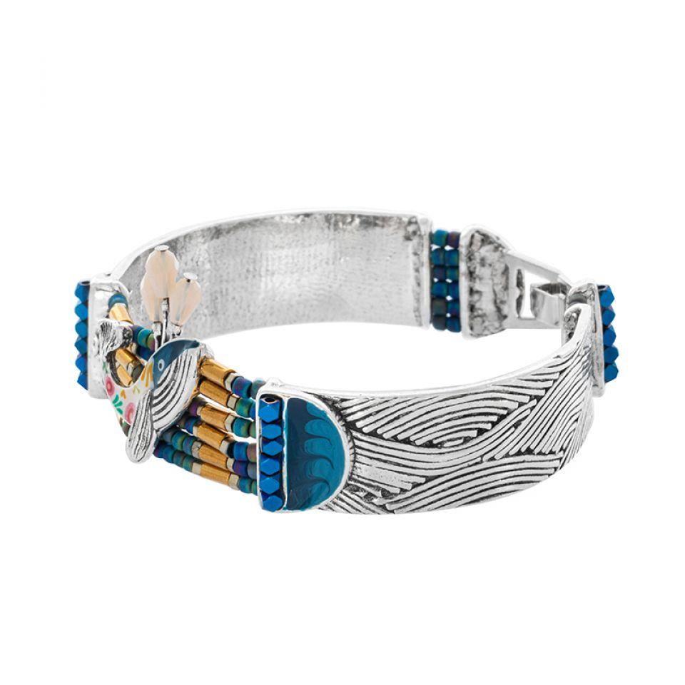 Bracelet Longue-vue Argente Bleu Taratata Bijoux Fantaisie en ligne 3