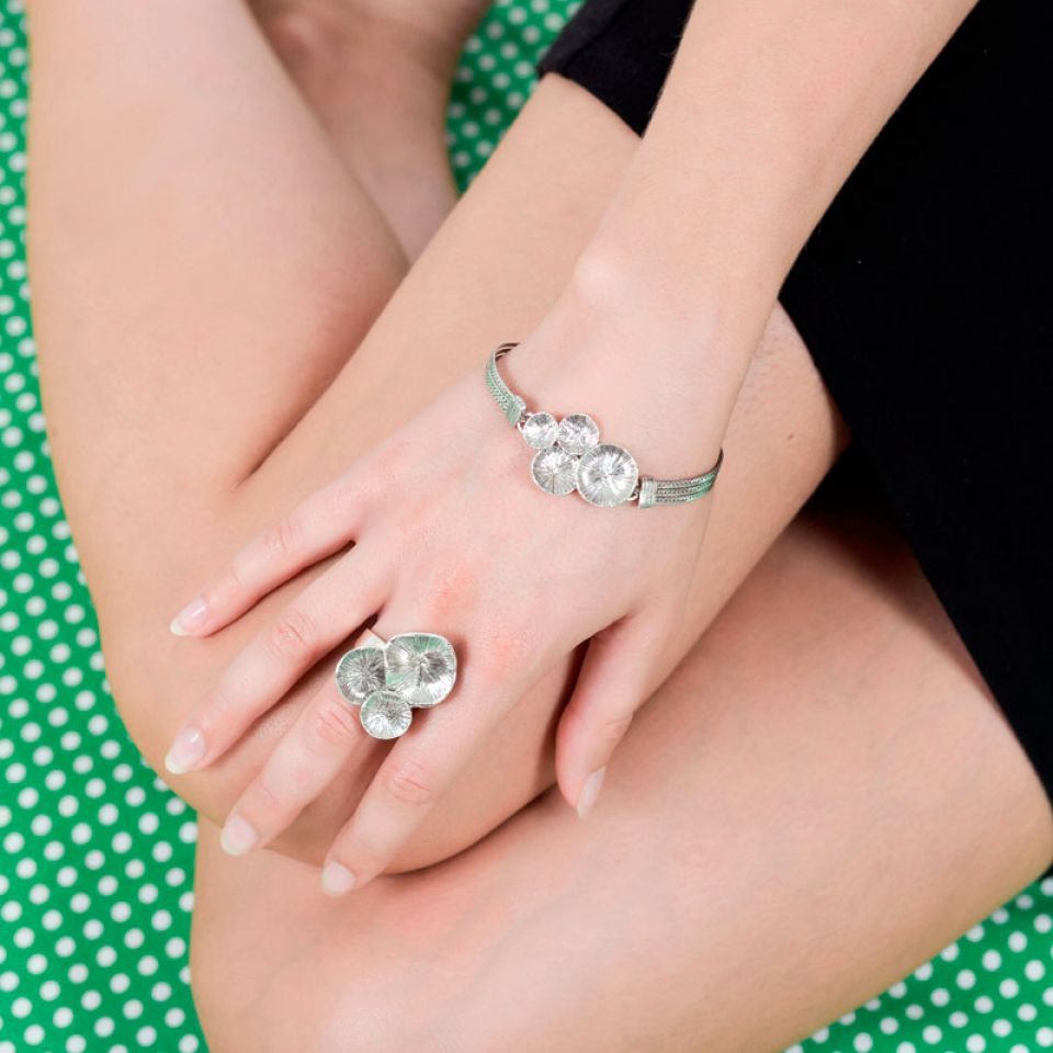 Bracelet Lotus Argent Taratata Bijoux Fantaisie en ligne 2