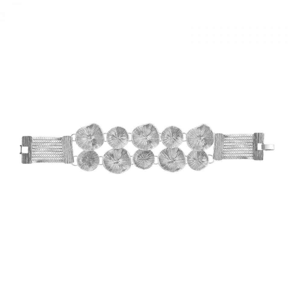 Bracelet Lotus Argent Taratata Bijoux Fantaisie en ligne 1