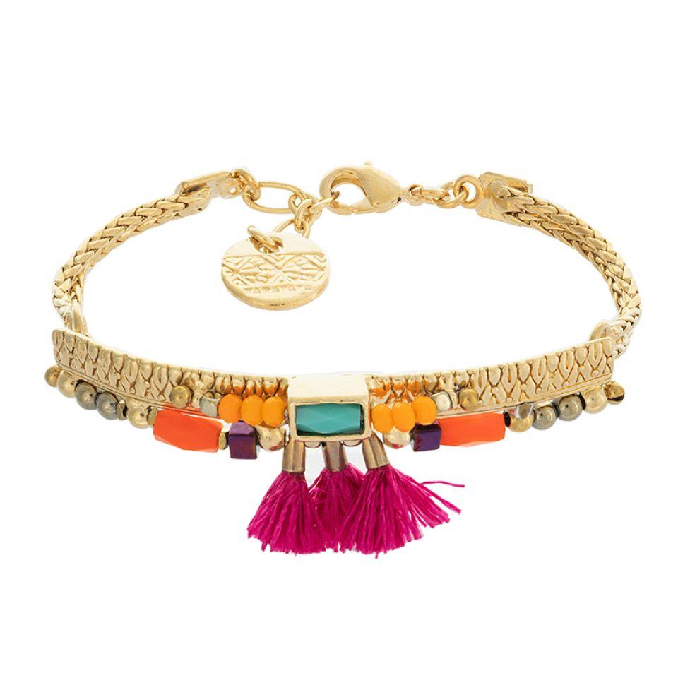 Bracelet Marie-rose Dore Multi Taratata Bijoux Fantaisie en ligne 1
