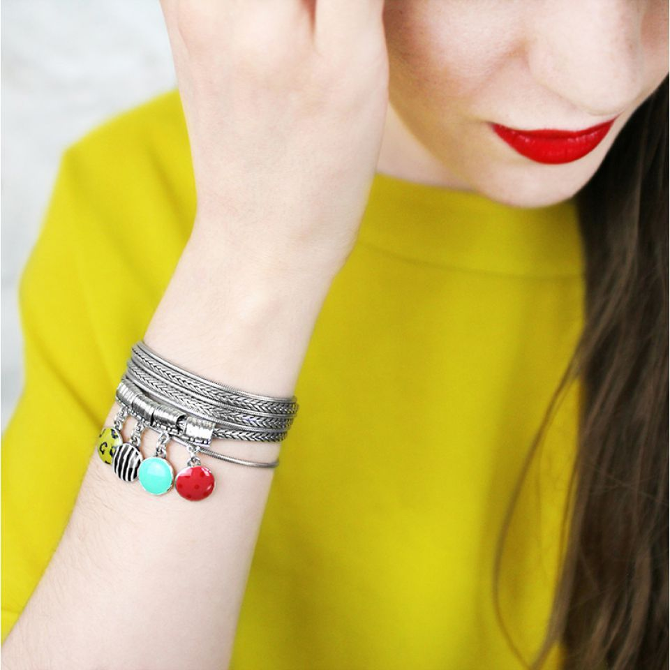 Bracelet Mogambo Argent Multi Taratata Bijoux Fantaisie en ligne 2