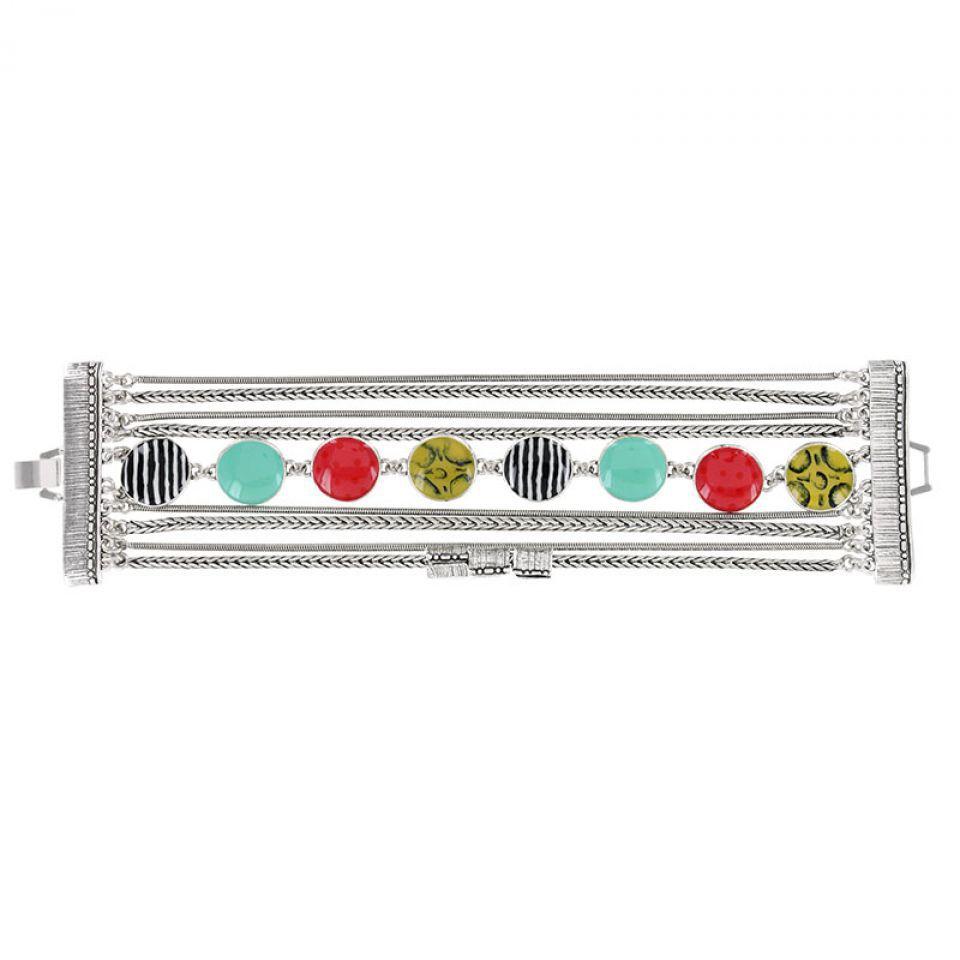 Bracelet Mogambo Argent Multi Taratata Bijoux Fantaisie en ligne 1