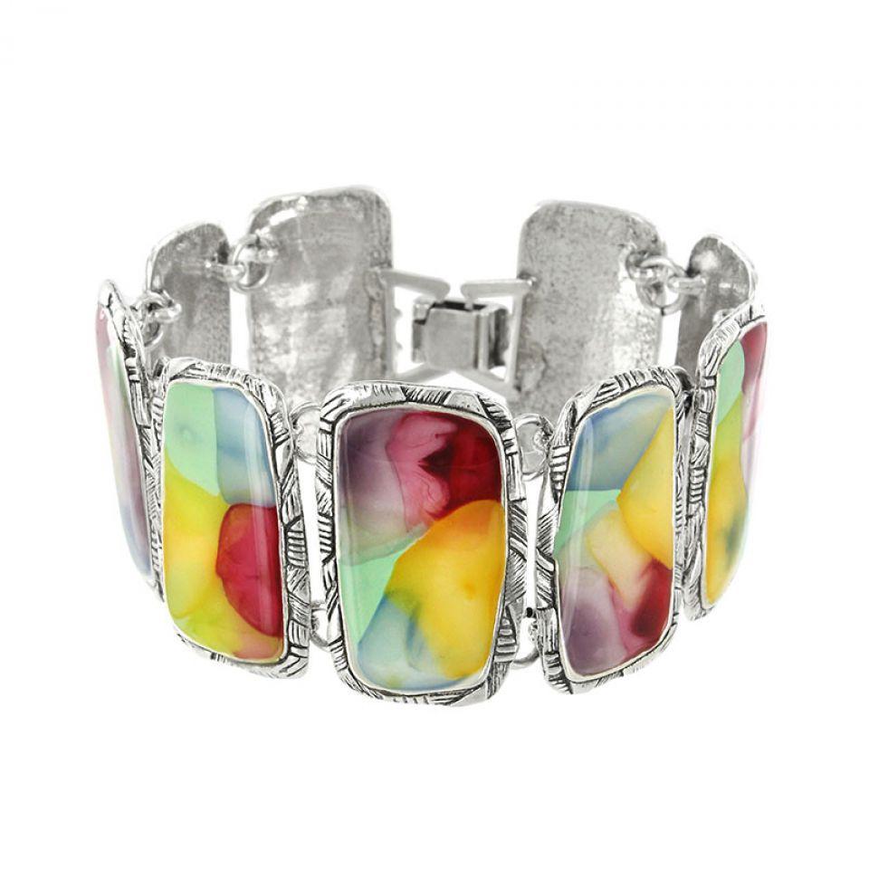 Bracelet Nuages Argent Multi Taratata Bijoux Fantaisie en ligne 1