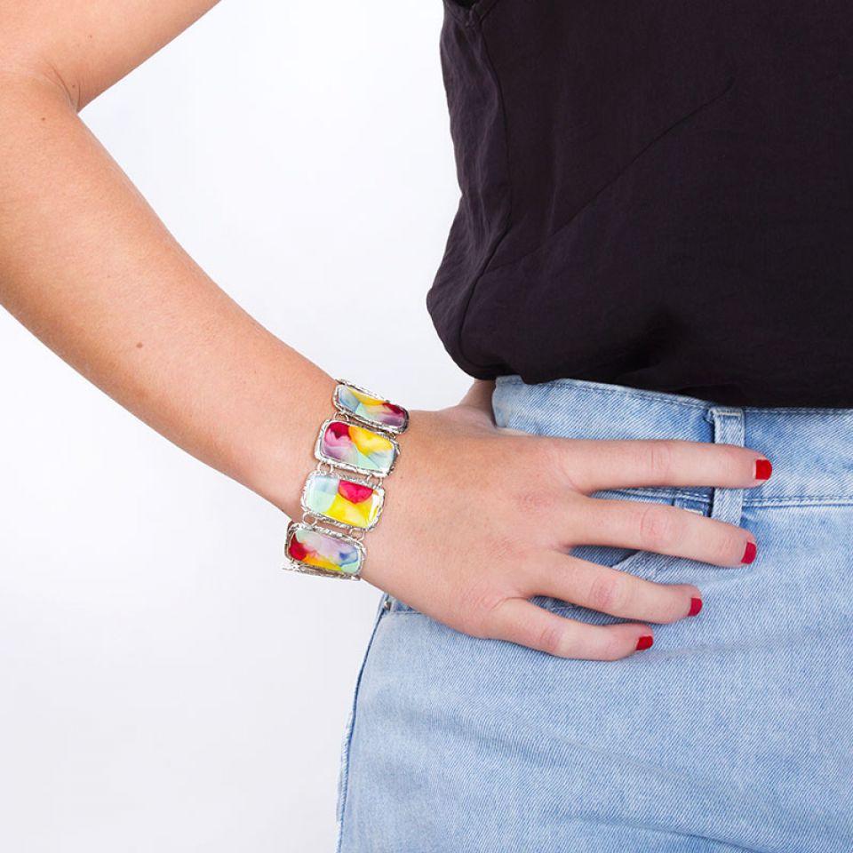 Bracelet Nuages Argent Multi Taratata Bijoux Fantaisie en ligne 2