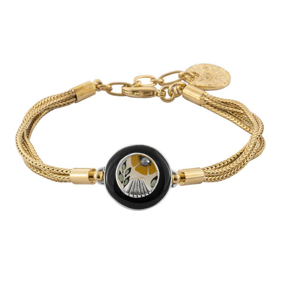 Bracelet Ocre Couleur Argent Jaune Taratata Bijoux Fantaisie en ligne 1