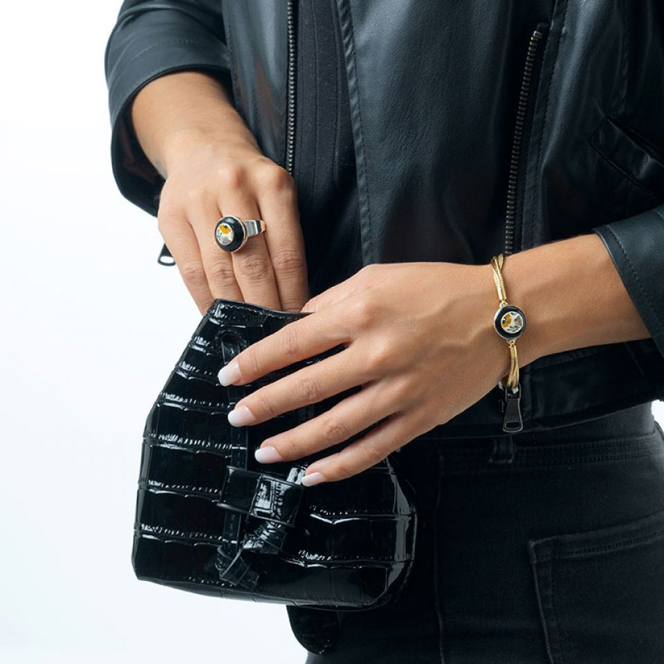 Bracelet Ocre Couleur Argent Jaune Taratata Bijoux Fantaisie en ligne 2