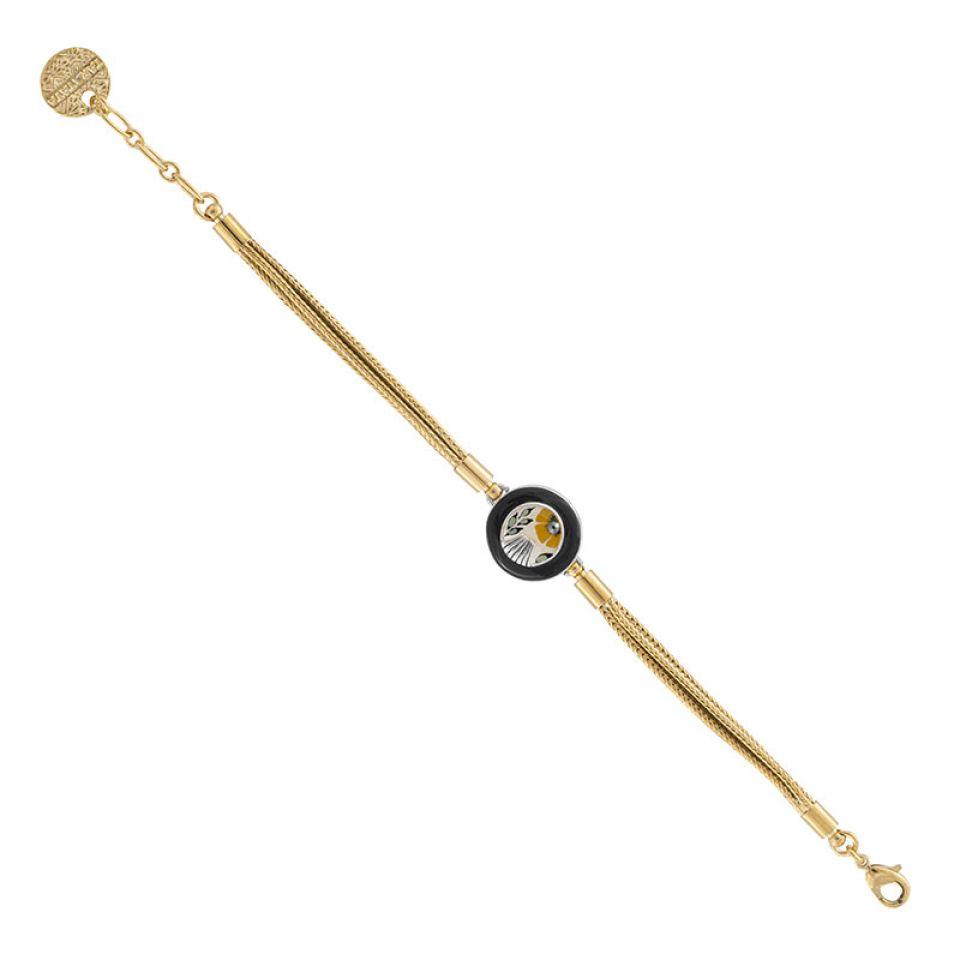 Bracelet Ocre Couleur Argent Jaune Taratata Bijoux Fantaisie en ligne 3