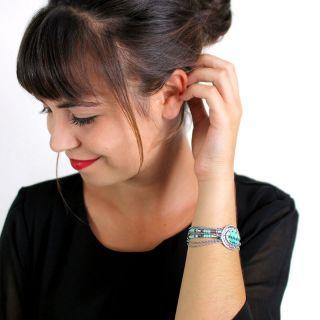 Bracelet Outre-mer Argent Bleu
