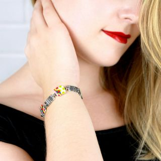 Bracelet Pop-art Argent Multi