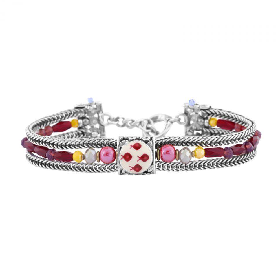 Bracelet Ravissante Argent Rouge Taratata Bijoux Fantaisie en ligne 1