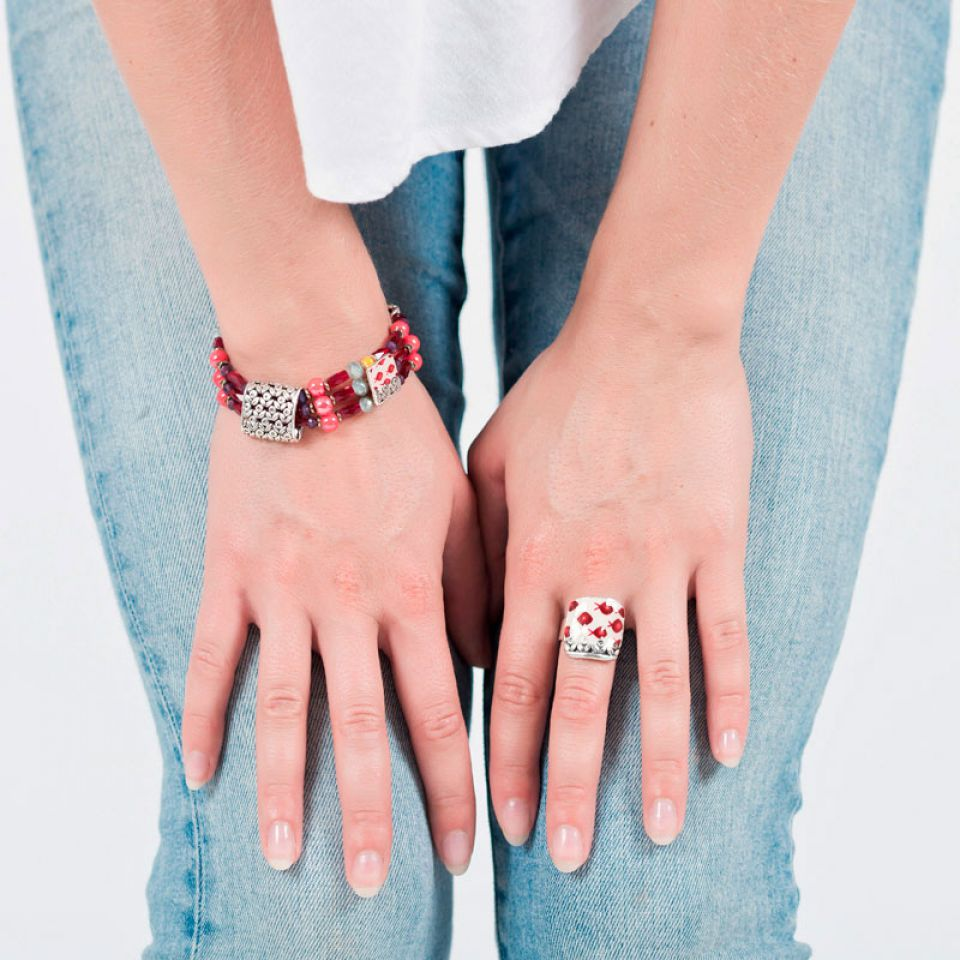 Bracelet Ravissante Argent Rouge Taratata Bijoux Fantaisie en ligne 2