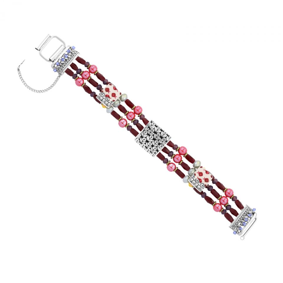 Bracelet Ravissante Argent Rouge Taratata Bijoux Fantaisie en ligne 3