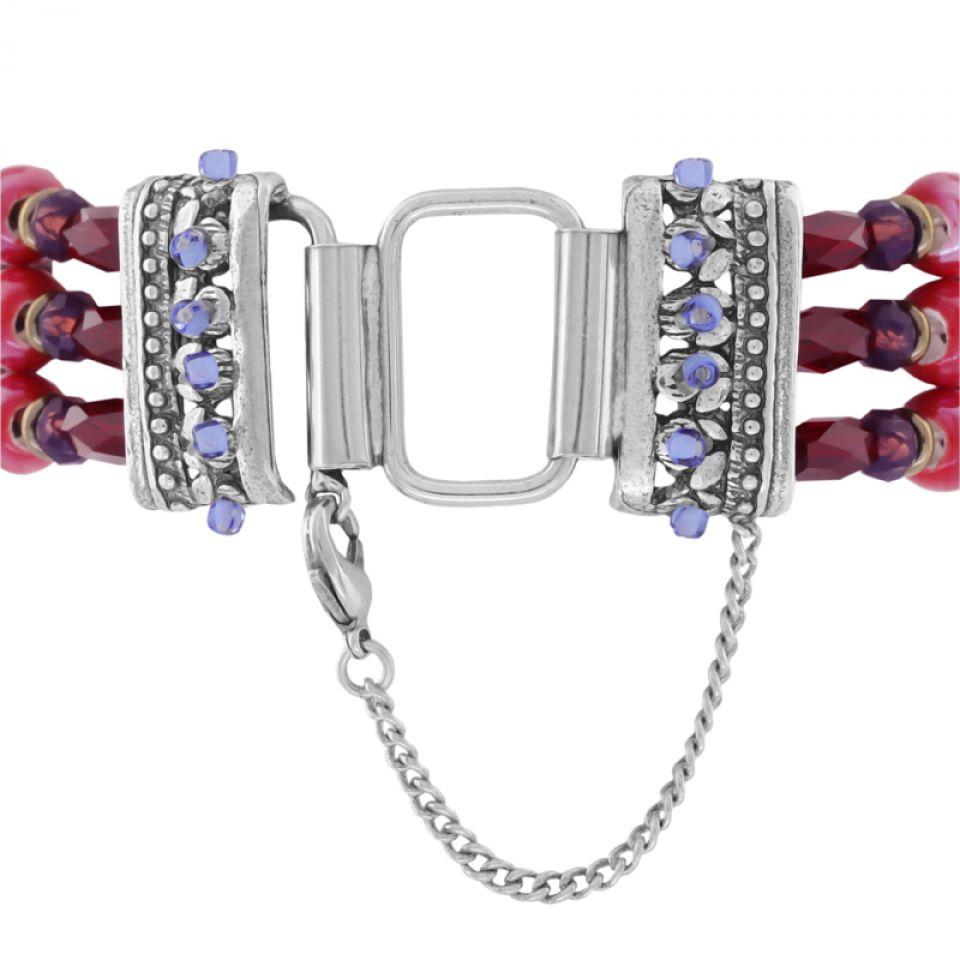 Bracelet Ravissante Argent Rouge Taratata Bijoux Fantaisie en ligne 4