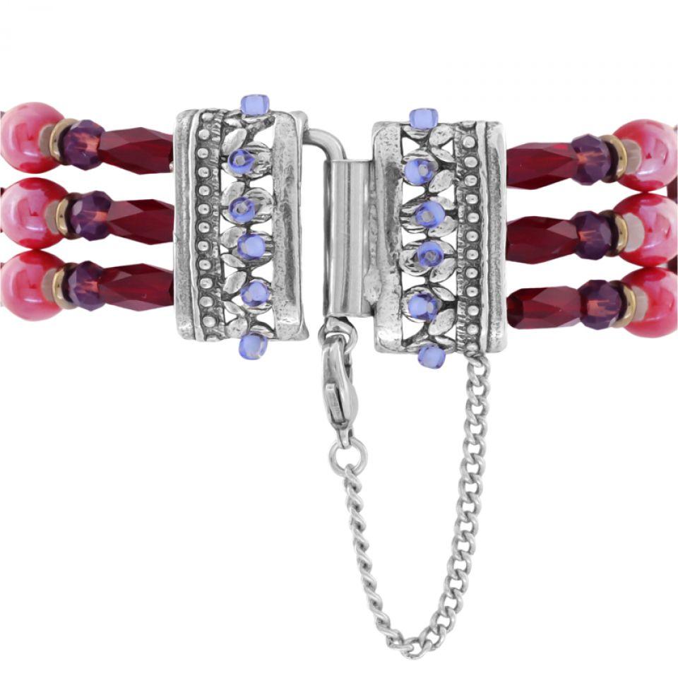 Bracelet Ravissante Argent Rouge Taratata Bijoux Fantaisie en ligne 5