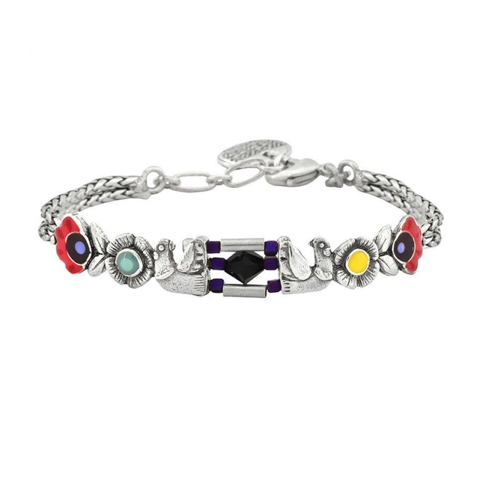 Bracelet Rive Gauche Argent Multi Taratata Bijoux Fantaisie en ligne 1