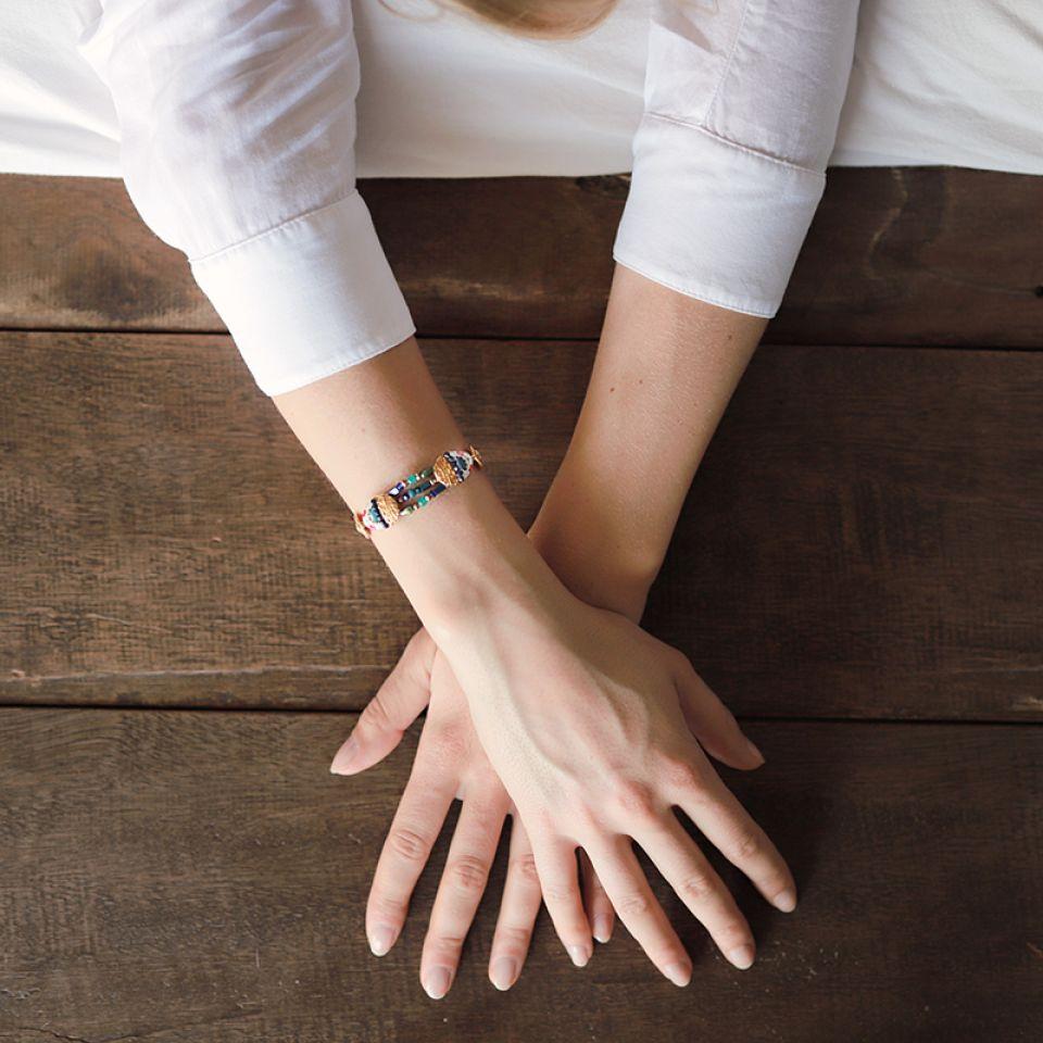 Bracelet Romeo Dore Bleu Taratata Bijoux Fantaisie en ligne 4