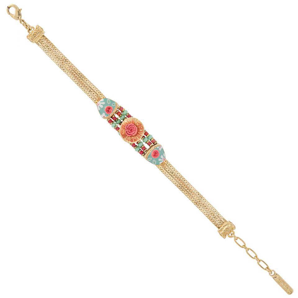 Bracelet Rosalie Dore Multi Taratata Bijoux Fantaisie en ligne 1