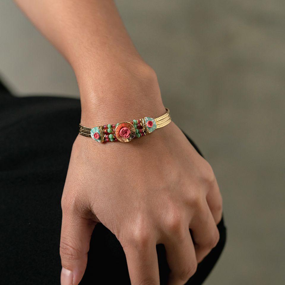 Bracelet Rosalie Dore Multi Taratata Bijoux Fantaisie en ligne 2