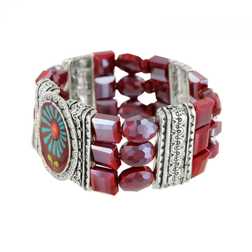 Bracelet Ruby Argent Rouge Taratata Bijoux Fantaisie en ligne 3
