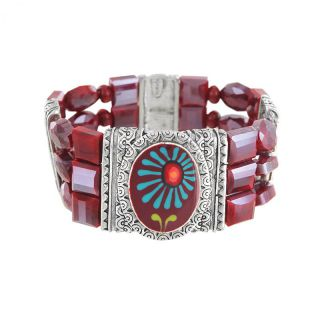 Bracelet Ruby Argent Rouge