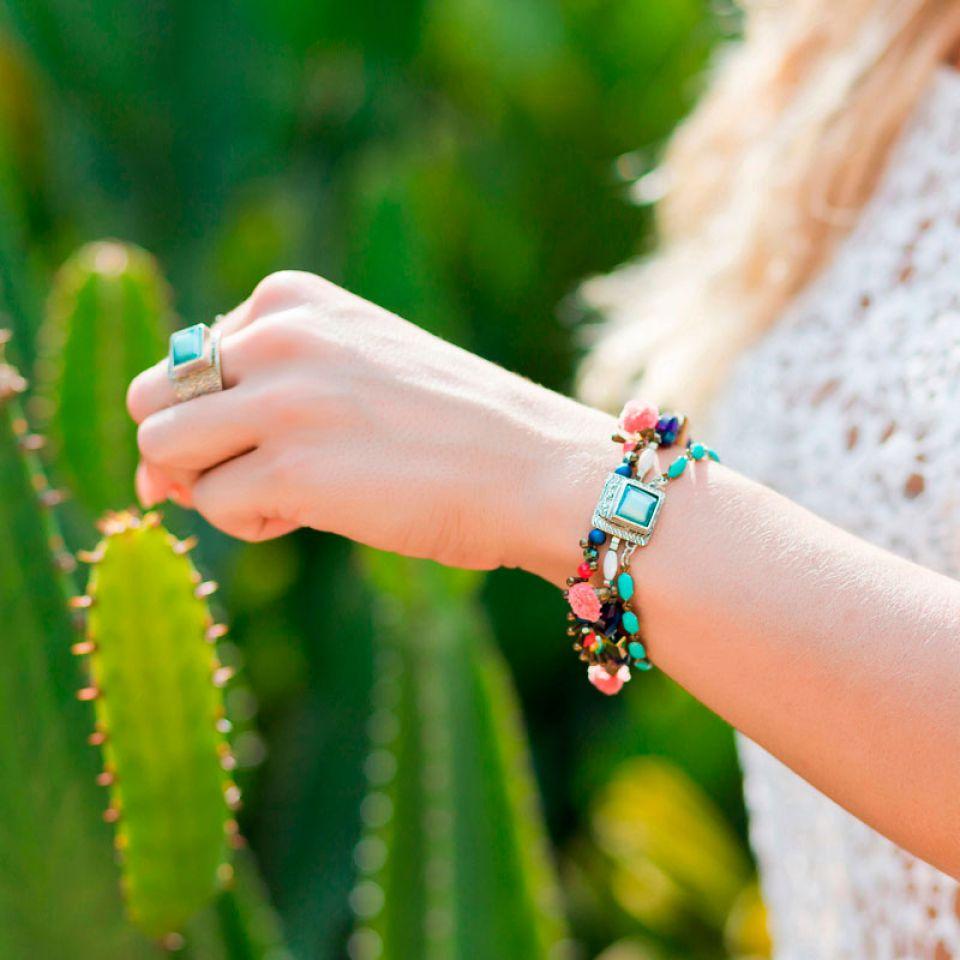 Bracelet Safran Argent Multi Taratata Bijoux Fantaisie en ligne 1