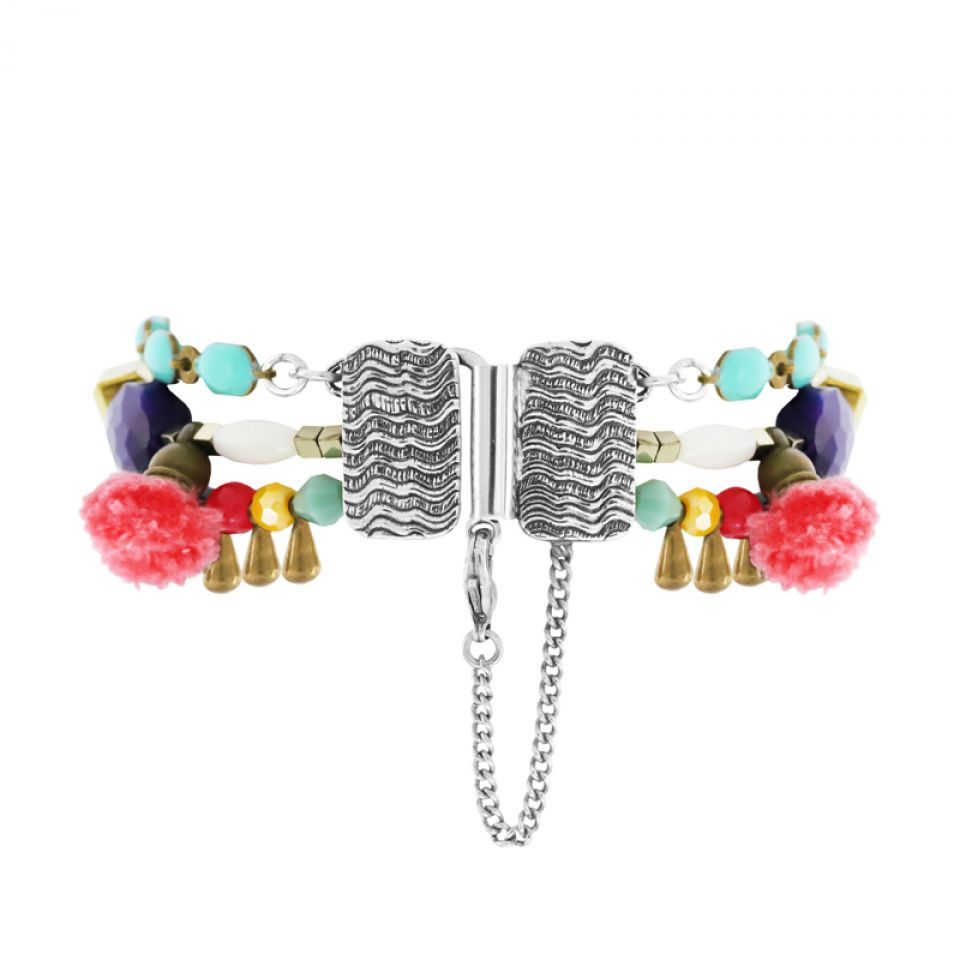 Bracelet Safran Argent Multi Taratata Bijoux Fantaisie en ligne 3