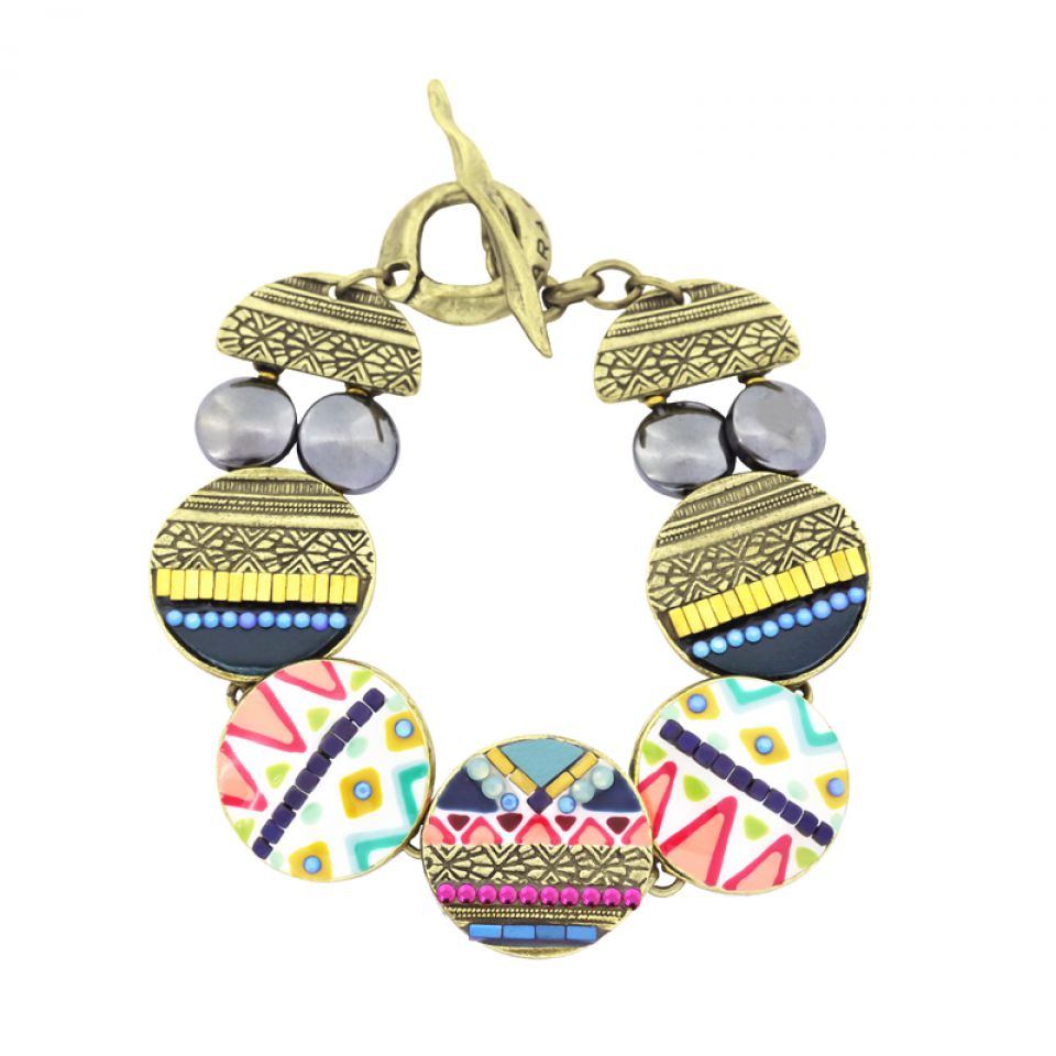 Bracelet Seduction Bronze Multi Taratata Bijoux Fantaisie en ligne 1