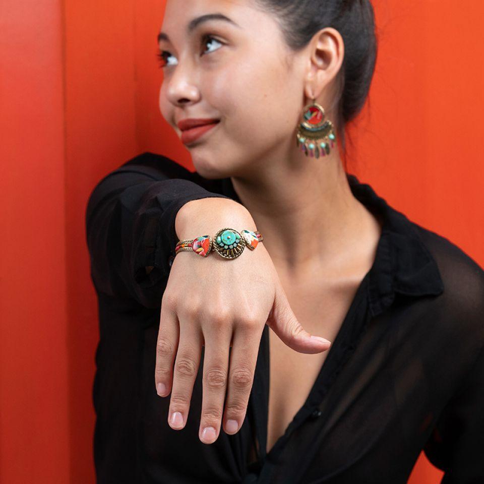 Bracelet Sombrero Bronze Multi Taratata Bijoux Fantaisie en ligne 2