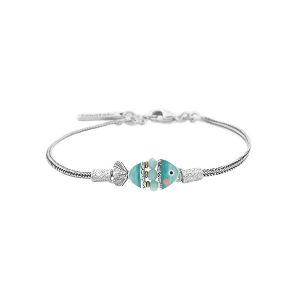 Bracelet Taraboum Argent Bleu Taratata Bijoux Fantaisie en ligne 1