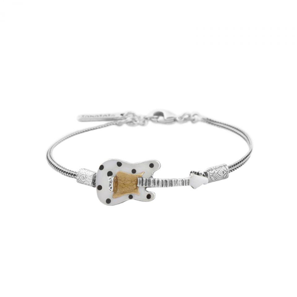 Bracelet Taraboum Argent Blanc Taratata Bijoux Fantaisie en ligne 1