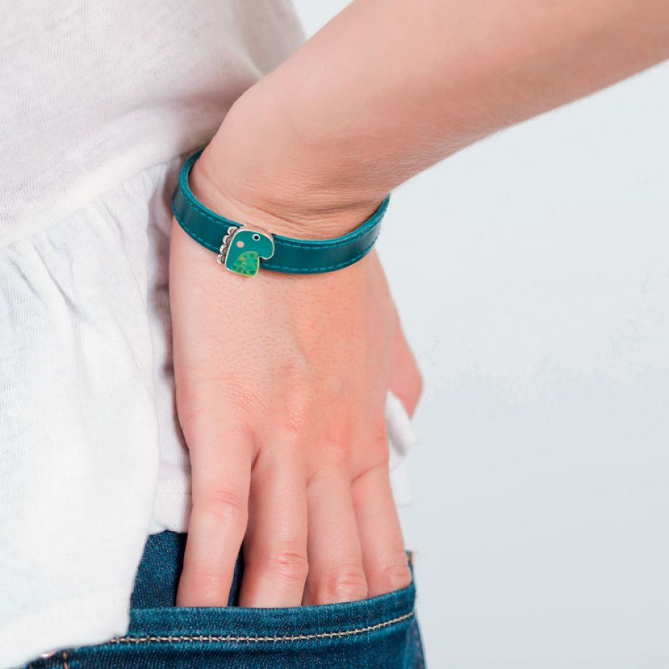 Bracelet Taraboum Argent Vert Taratata Bijoux Fantaisie en ligne 2