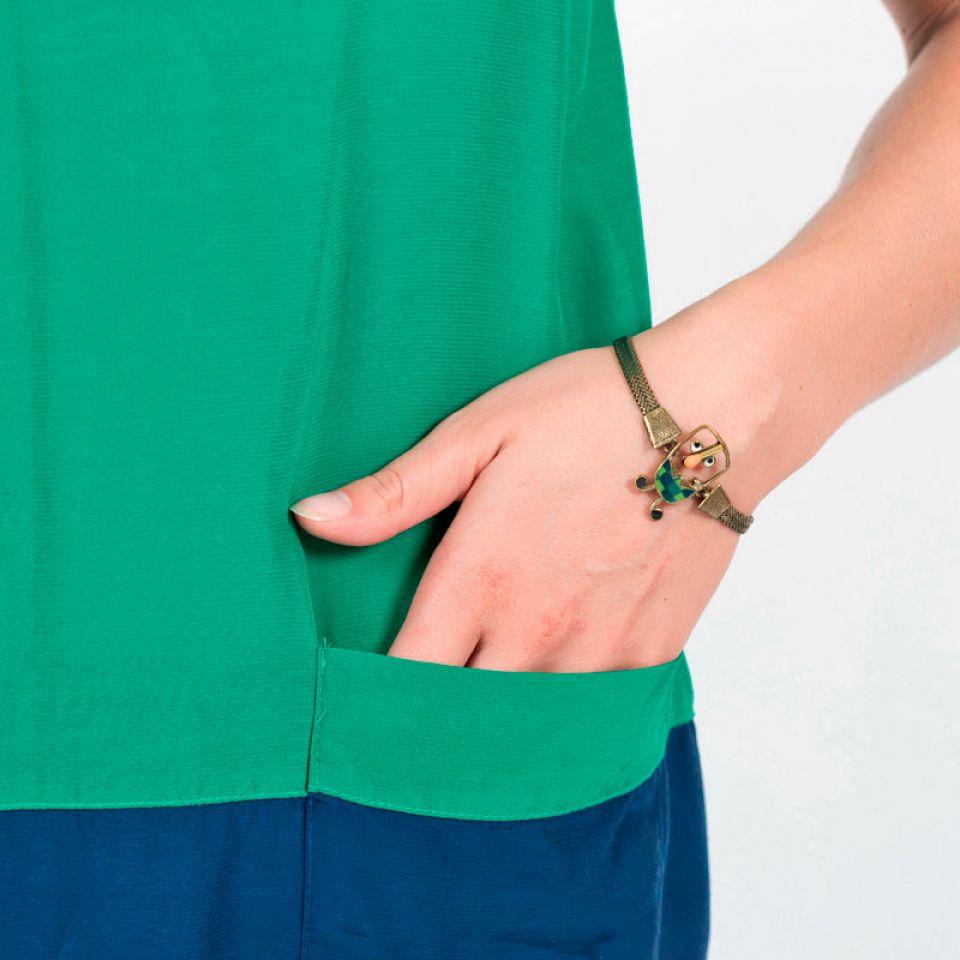 Bracelet Taraboum Bronze Vert Taratata Bijoux Fantaisie en ligne 2