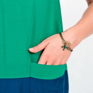 Bracelet Taraboum Bronze Vert