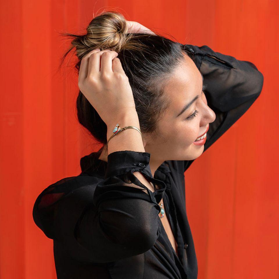 Bracelet Il Pleut Bronze Bleu Taratata Bijoux Fantaisie en ligne 2