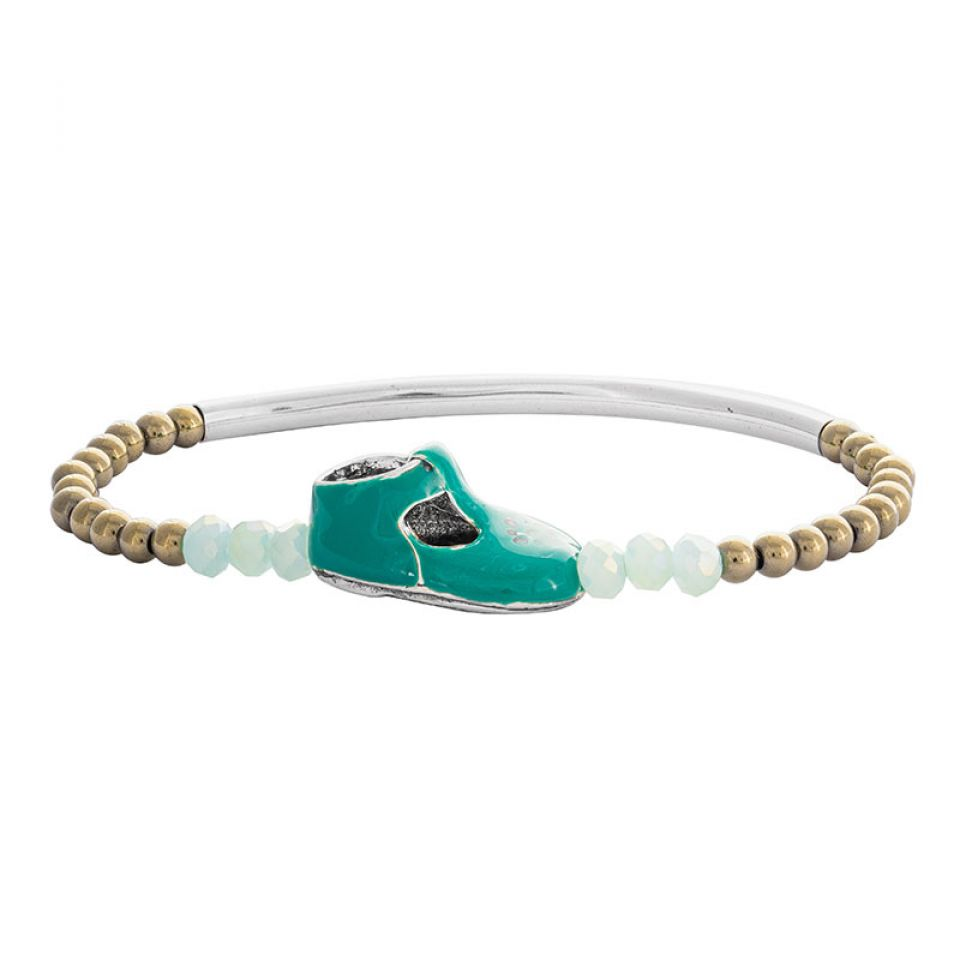 Bracelet Cannibalos Argente Vert Taratata Bijoux Fantaisie en ligne 1
