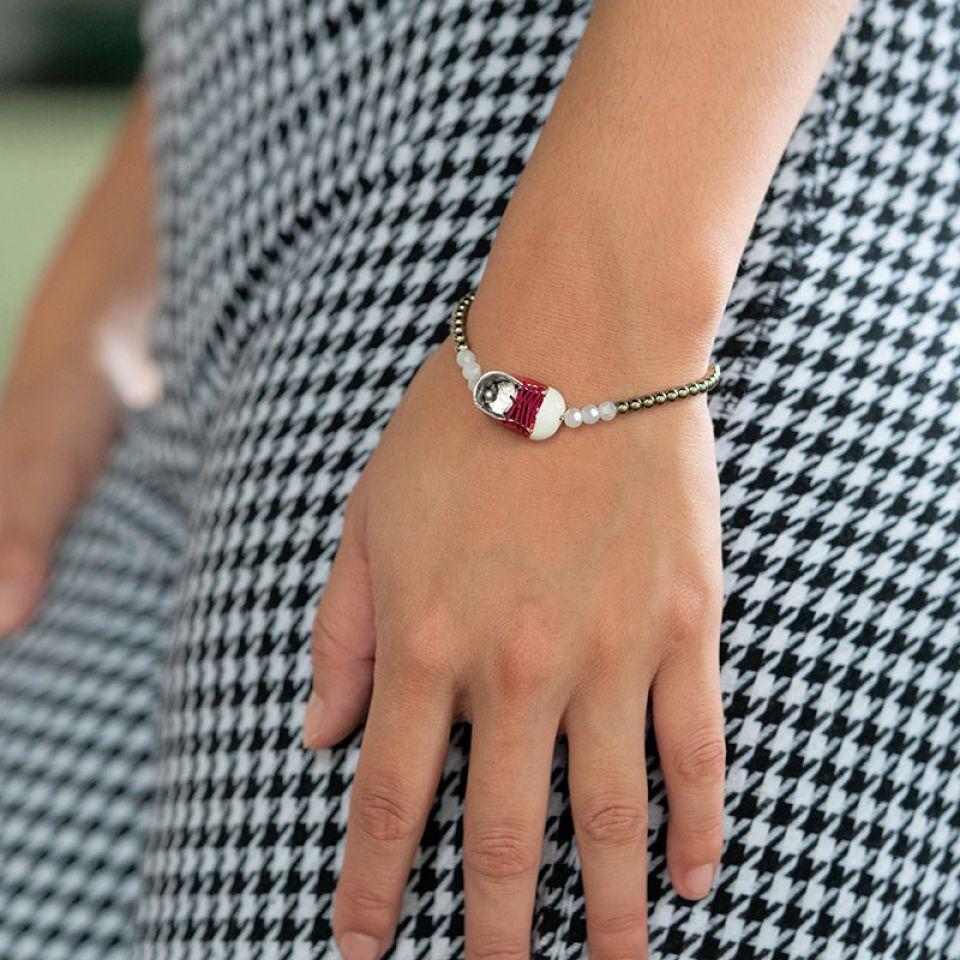 Bracelet Cannibalos Argente Rouge Taratata Bijoux Fantaisie en ligne 2