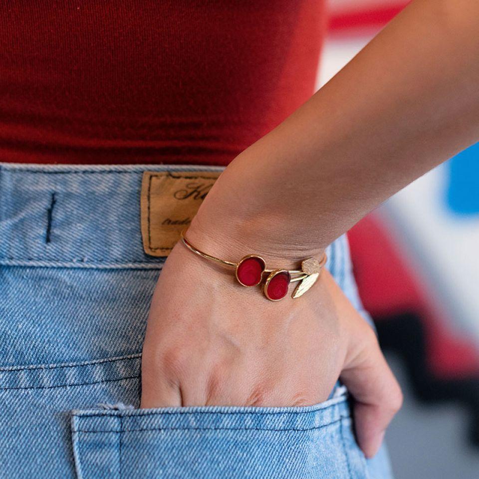 Bracelet Cherie Dore Rouge Taratata Bijoux Fantaisie en ligne 2