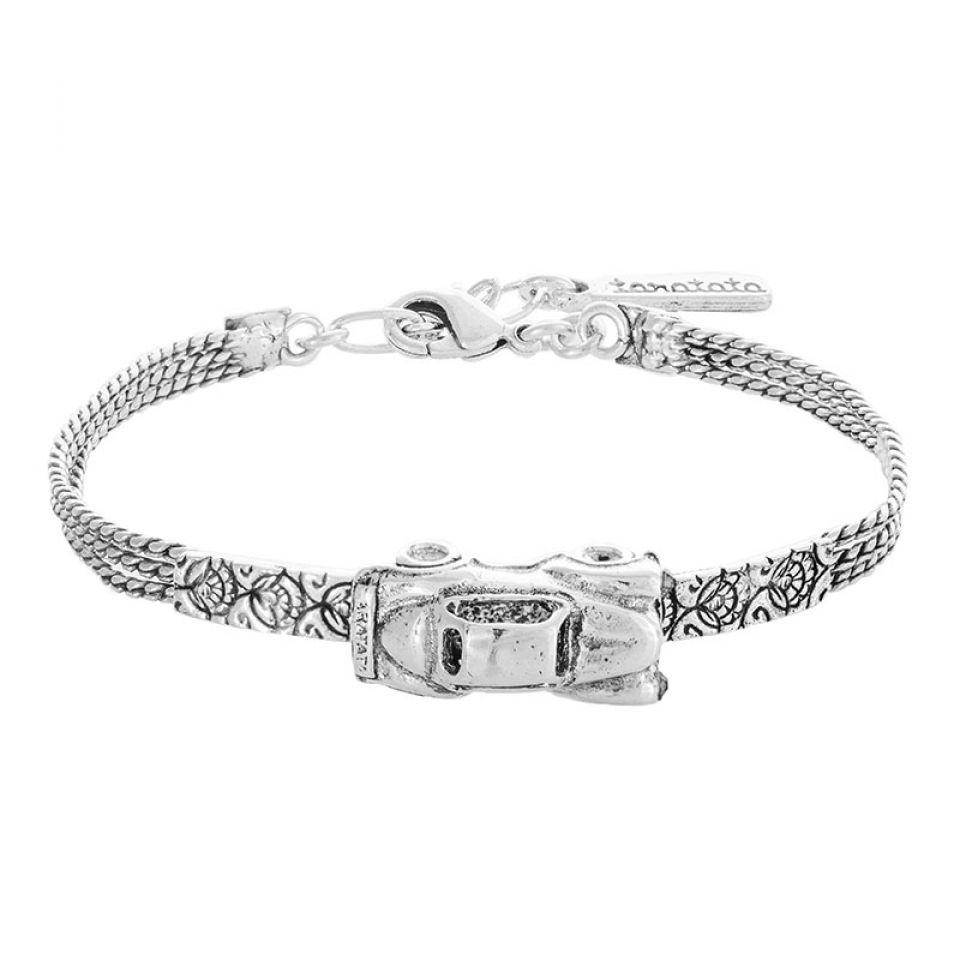 Bracelet Guimbarde Argente Argente Taratata Bijoux Fantaisie en ligne 1