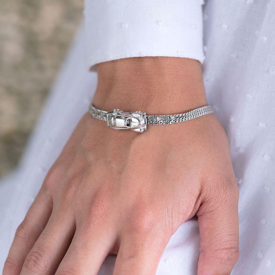 Bracelet Guimbarde Argente Argente Taratata Bijoux Fantaisie en ligne 2