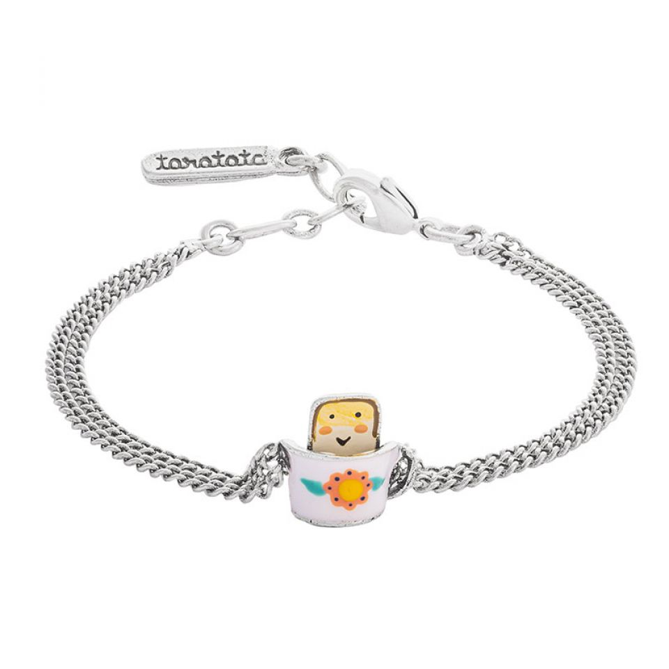 Bracelet Bonjour Argente Multi Taratata Bijoux Fantaisie en ligne 1