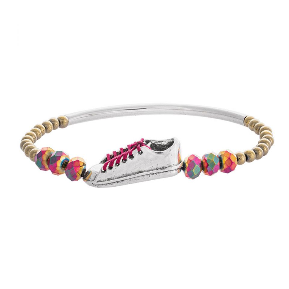 Bracelet Cours Toujours Argente Rouge Taratata Bijoux Fantaisie en ligne 1