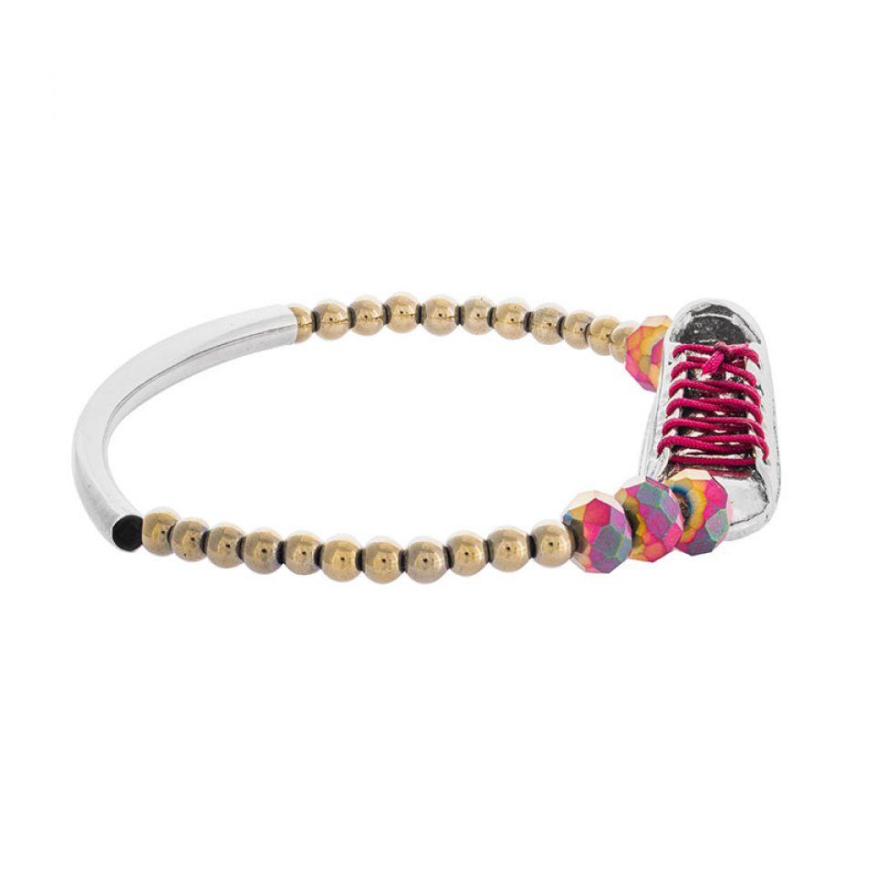 Bracelet Cours Toujours Argente Rouge Taratata Bijoux Fantaisie en ligne 3