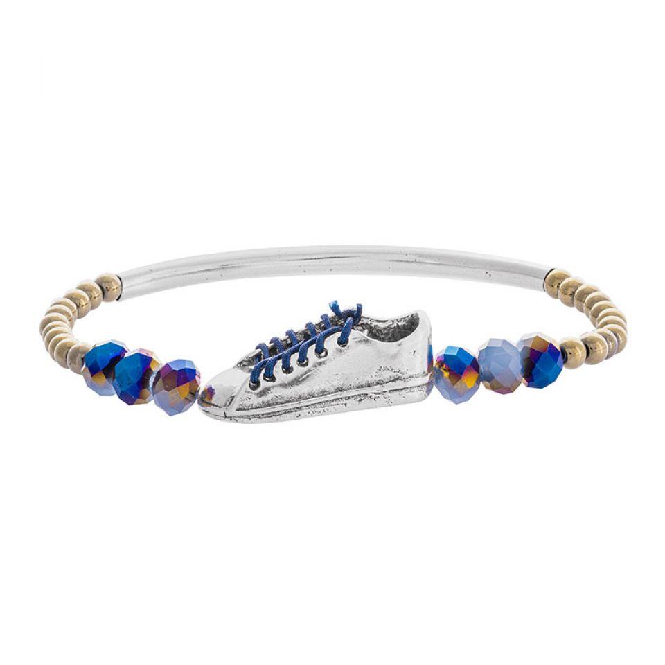 Bracelet Cours Toujours Argente Bleu Taratata Bijoux Fantaisie en ligne 2