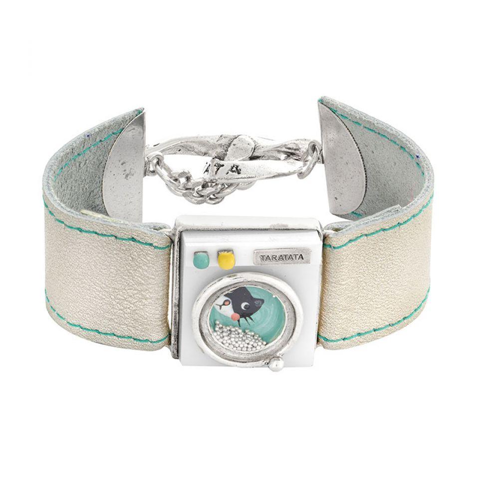 Bracelet Essorage Argente Blanc Taratata Bijoux Fantaisie en ligne 1