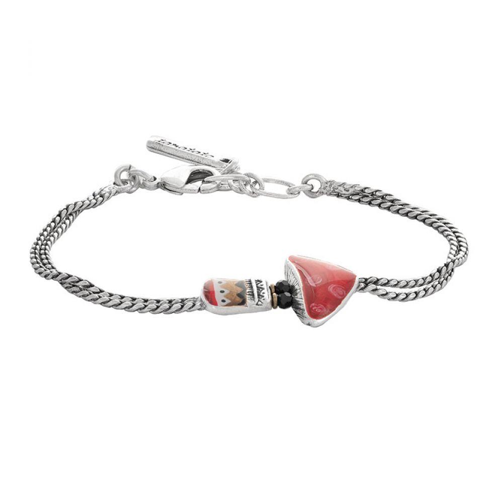 Bracelet Alice Argente Rouge Taratata Bijoux Fantaisie en ligne 3