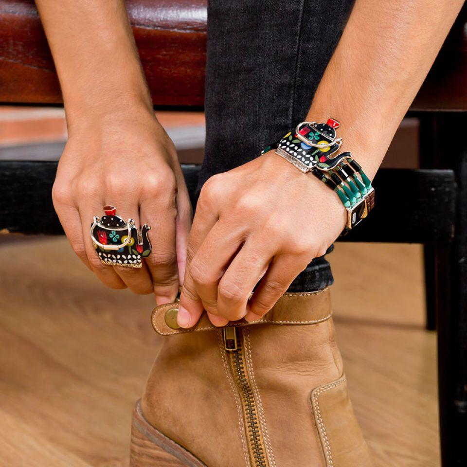 Bracelet Tea For Two Argent Multi Taratata Bijoux Fantaisie en ligne 2