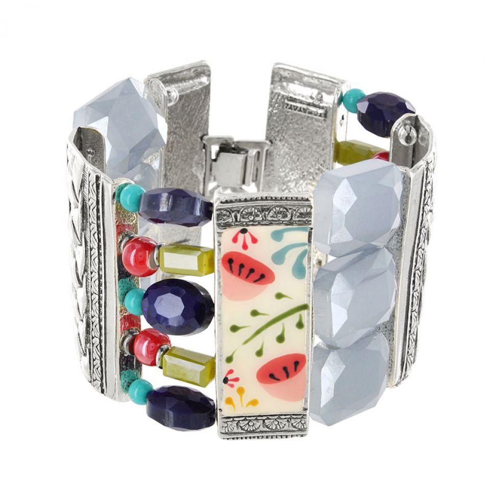 Bracelet Vagabonde Argent Multi Taratata Bijoux Fantaisie en ligne 1