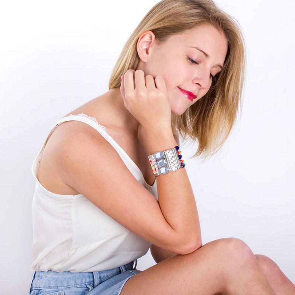 Bracelet Vagabonde Argent Multi Taratata Bijoux Fantaisie en ligne 2